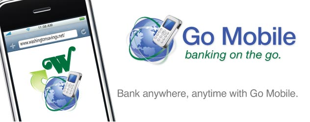 Go Mobile banking on the go. Bank anywhere, anytime with Go Mobile.
